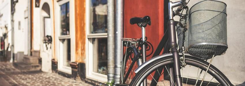 Vintage bicycle in Copenhagen, Denmark