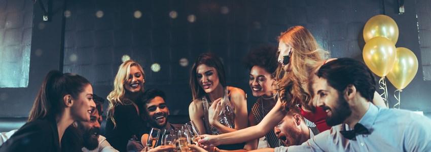 Friends at a bar in Miami, Florida