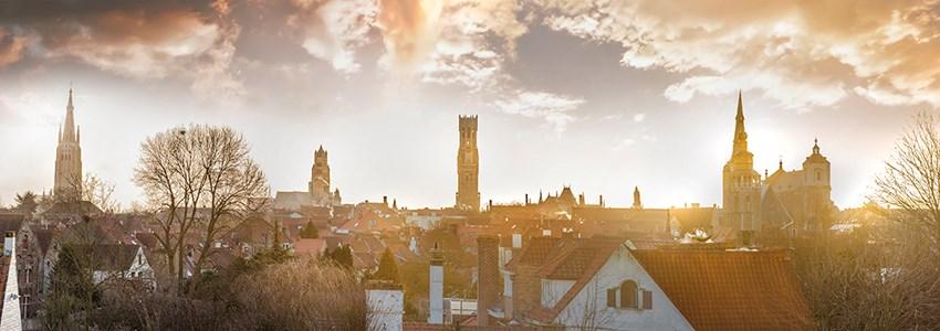 Skyline over Bruges