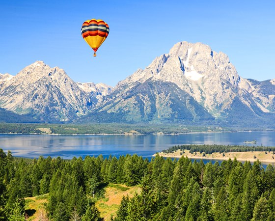 The Grand Teton National Park in Wyoming USA