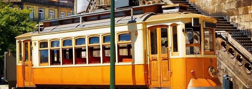 Old tram in Porto
