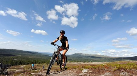 Biking at Idre Fjäll