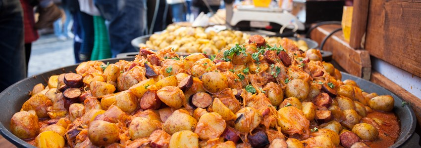 Prague Street Food - Steamed Meat and Vegetables, Czech republic