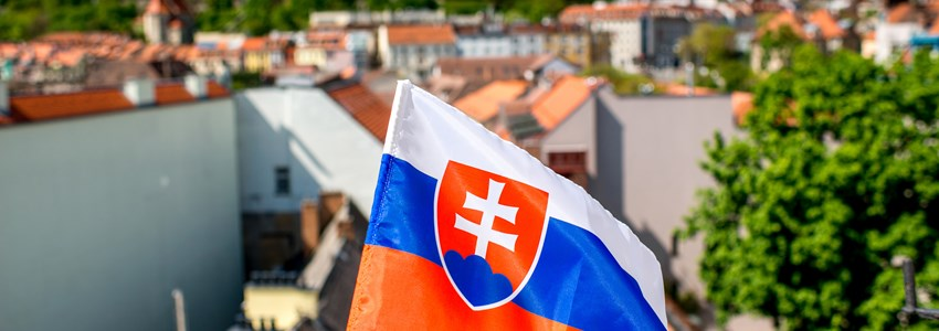slovak flag with city