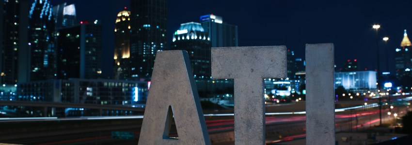 ATL sign at night - Atlanta, Georgia
