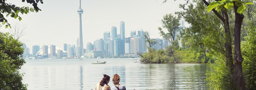 People in park in Toronto