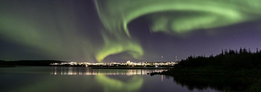 aurora over Iceland, near Reykjavik