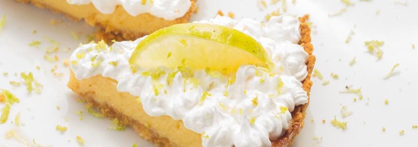 Two lemon pie slices