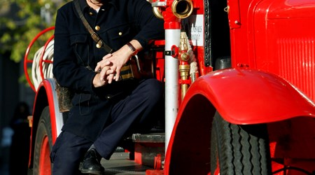 Guided fire truck tour of Stone Town