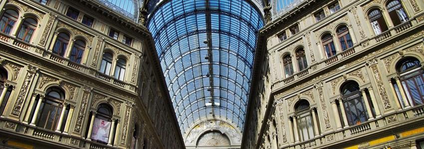 Shopping mall - italian style. Galleria Vittorio Emanuele II. Naples, Italy.
