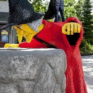 Witch made of Lego bricks in Legoland / Fulcanelli/Shutterstock.com