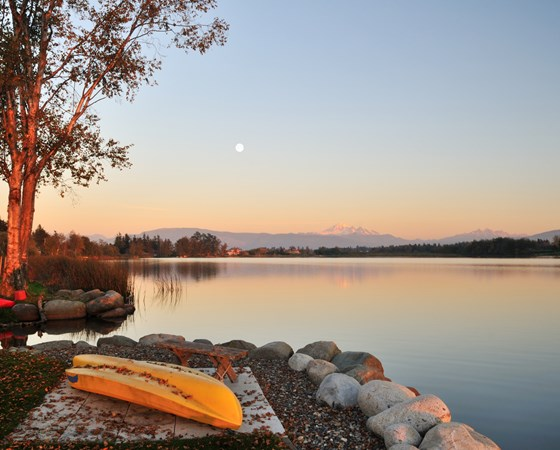 Wiser lake and Mount Baker in Washington State