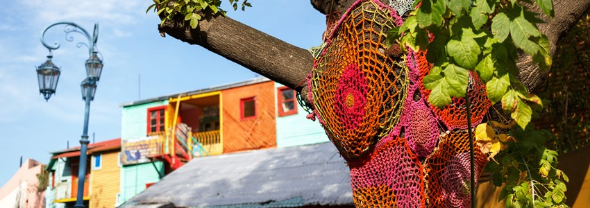 Colorful Caminito street in the La Boca, Buenos Aires, Argentina