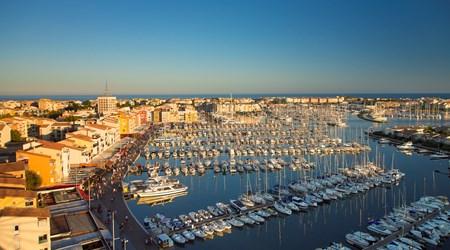 A marina in the Mediterranean