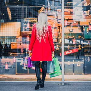 Woman looking at window shop / oneinchpunch/Shutterstock.com