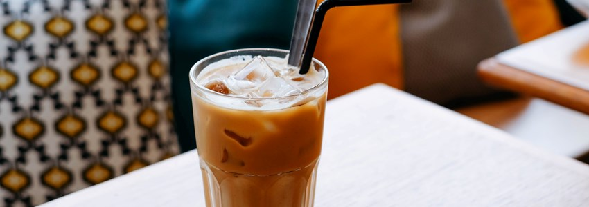A cup of latte, iced coffee - Cancun, Mexico