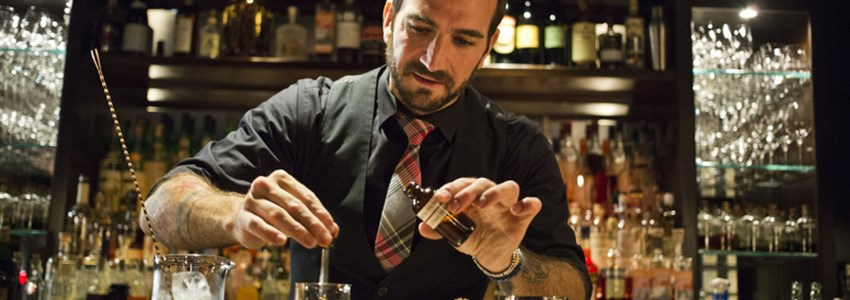Barman making drink