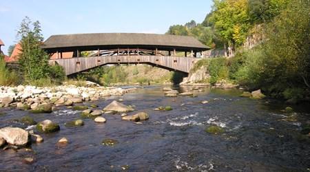 Wooden Bridge in Forbach