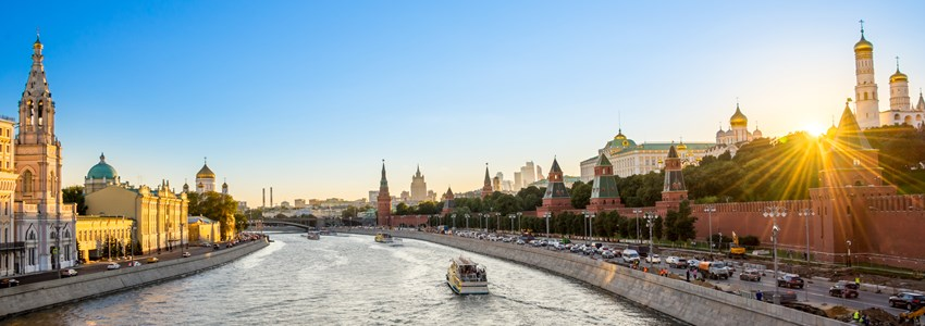 Moscow view onto river