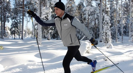 Cross country skiing in the Lake Siljan Area