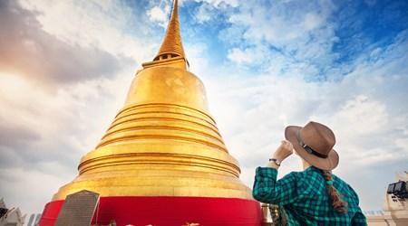 Wat Saket And Phu Khao Thong (The Golden Mount)