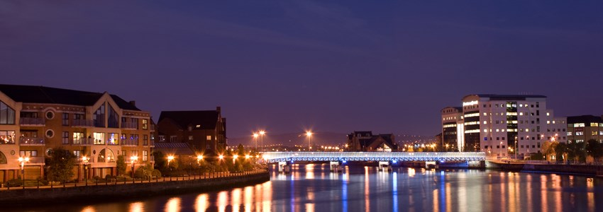 Belfast from the River Lagan