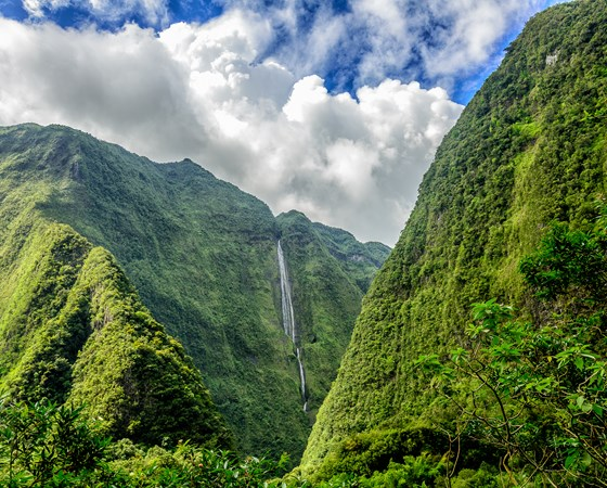 Reunion island mountains