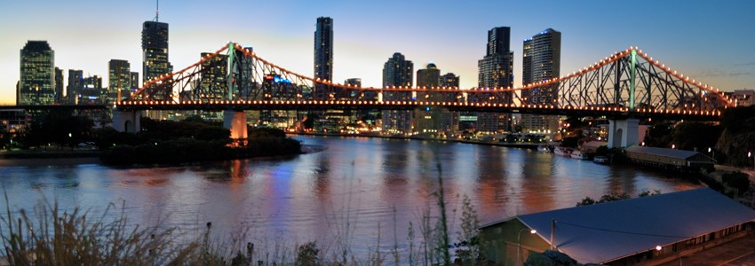 Brisbane CBD at Sunset