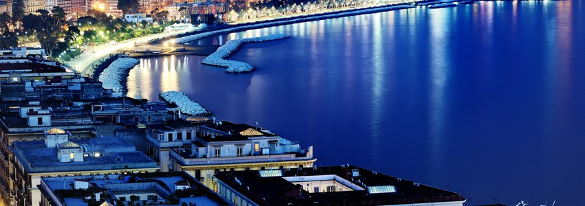wonderful naples panoramic view by night