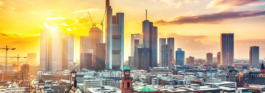 Frankfurt am Main at sunset, Germany