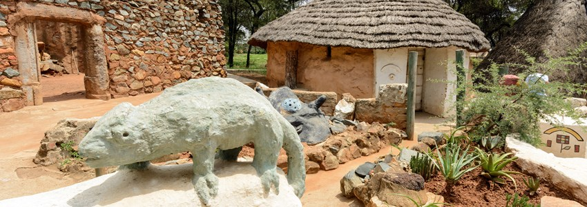 Credo Mutwa cultural village in Soweto ,Johannesburg ,South Africa.
