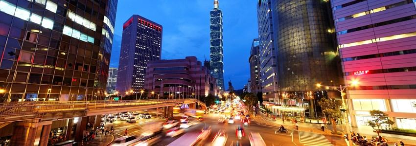 Night city Taipei