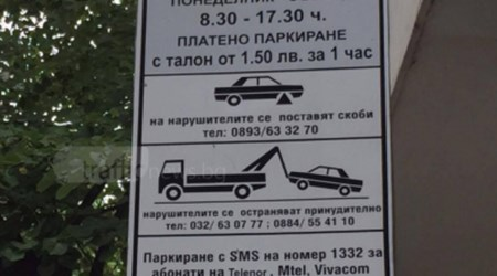 Plovdiv's Blue (Paid) Parking Area