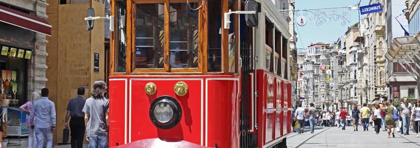 Beyoglu tram, Istanbul. Turkey