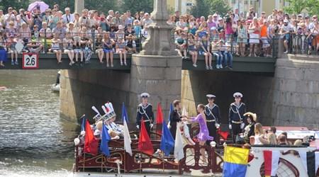 12 August 2018: Saint Petersburg River Carnival