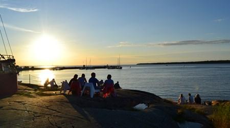 Sunset in Öregrund