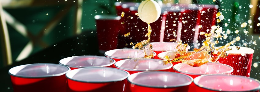 beer pong glasses