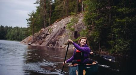 Wilderness Canoeing Adventure in Nuuksio National Park