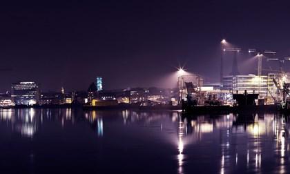 Aarhus Harbour By Night