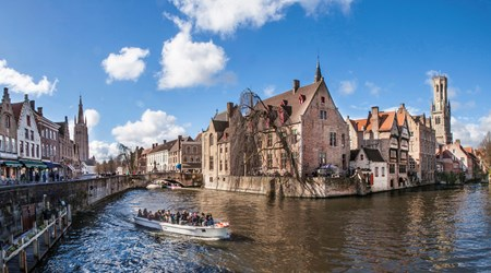Rozenhoedkaai and the Bruges canals, a typical city view