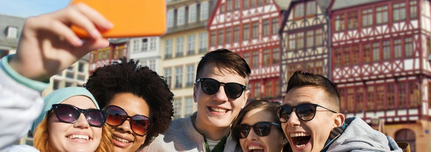 Teenagers in Frankfurt