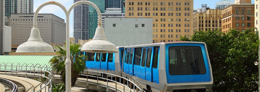 The fully automated Miami downtown train system