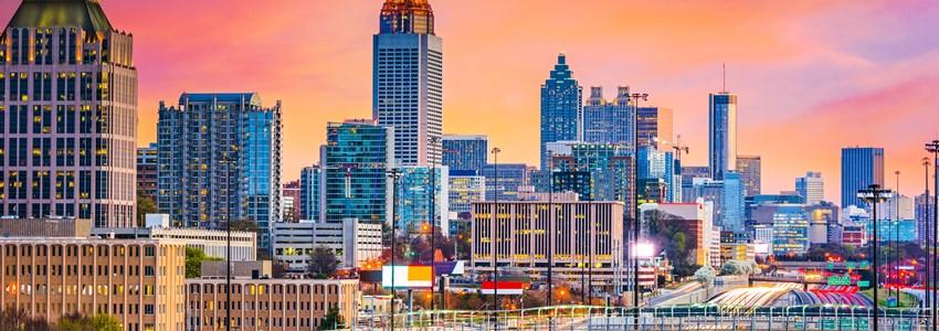 Atlanta's skyline at dusk - Atlanta, Georgia