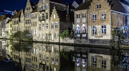 Magical Ghent in the evening