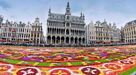 The Brussels Flower Carpet, a major event on the Grand Place