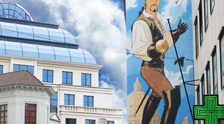 Comic Book Tour of Brussels: Mural Paintings
