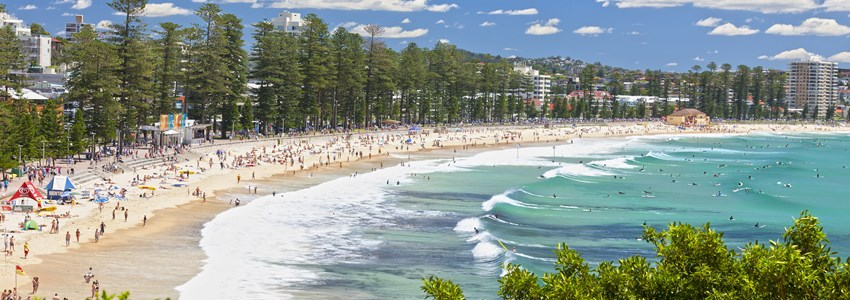 View from the South Steyne end of Manly Beach