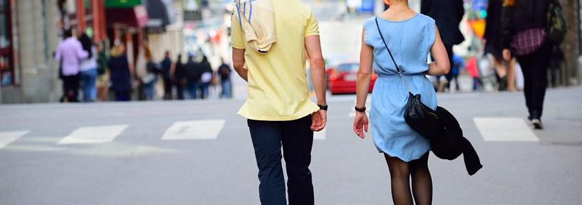 People walking in beautiful summer Stockholm