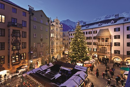 Christkindlmarkt in Innsbruck's medieval Old Town
