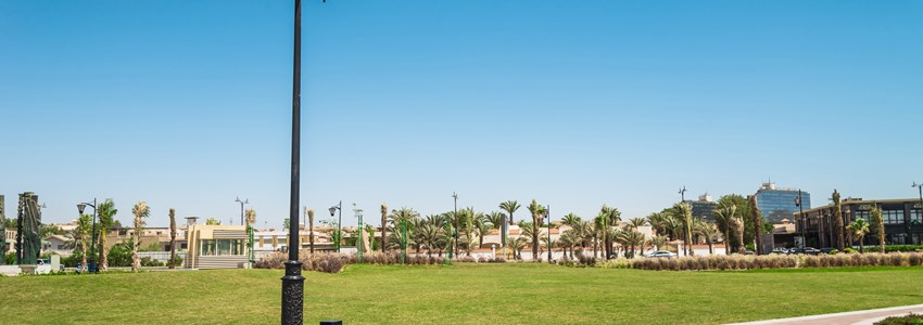 Public park at jeddah beach